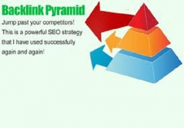 build an eminent backlink pyramid with 5000 profiles links,links are all from different domains and about 90 percent are dofollow