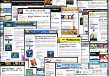 give awesome 47 Ready Made ClickBank Websites with MRR