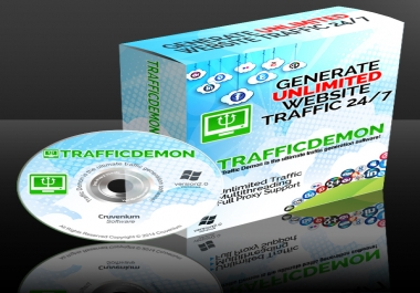 Give TrafficDemon Software- Generate UNLIMITED TRAFFIC For Life to your website