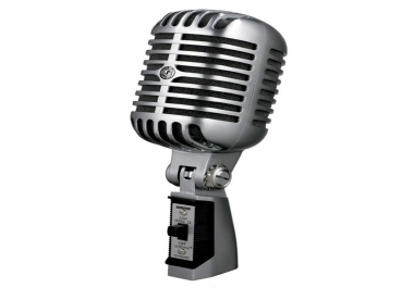 record a professional male voice over