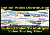 submit your video to 35 high PR video submission website with account creation and bonus