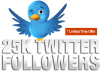 add 25,000 Twitter Followers to your account Super Fast without Password