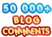 build large 50K blog comments with full report and pinging
