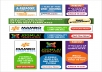 create banner design of any size with any thing on it