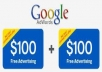 give u 3 X HIGH QUALITY $100 GOOGLE ADWORDS VOUCHERS FOR A TOTAL OF $300 IN FREE ADVERTISING plus 3 POWERFUL SUPER BONUSES