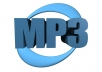 convert your 5 audio files to mp3 format