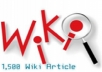 create 1,500 Wiki Backlinks for your website
