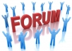 create 500 Forum Posting Backlinks for your website