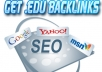 give you 100 EDU Backlinks to boost your website