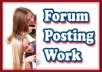 create 500 Forum Posting Backlinks
