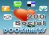 create 200 Social Bookmarking backlinks