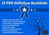 give you 25 PR9 backlinks to boost SEO ranking