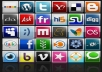 submit your site to 800 social bookmarks and ping all them