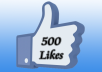 give you 500+ Real Facebook Likes