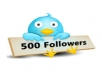 give you 500+ Real Twitter Followers