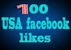 promote you 100 USA facebook post like in 2hrs