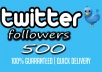 get you 500 Real TWITTER followers