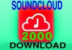 Add 2000 Soundcloud Play and Download