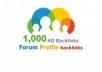 GIVE YOU 1000 FORUM PROFILES BACKLINKS