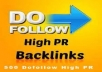 500 DO-FOLLOW PR 3-9 BACKLINKS