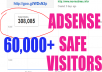 give 60,000+ REAL Adsense Safe Human Website Traffic Google,twitter,facebook in 2-3 days only