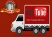 Provide 3000 YOUTUBE VIEWS + 100 LIKES + 50 SUBSCRIBERS + 2 HUMAN COMMENTS
