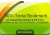 Provide 600+ BEST Social Bookmarking PR 8 to 0 All Unique Domain Penguin Safe
