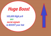 Make sure your website gets a boost with 100,000 SEO social signals bookmarks and high pr9 backlinks