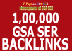 build 1 Million High Quality GSA SER Backlinks For Multi-Tiered Link Building