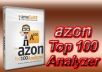 utilize the AZON TOP 100 ANALYZER Software Tool to provide the Most COMPREHENSIVE List of Amazon Best Sellers, Top Rated, Hot New Releases, Movers & Shakers, Most Gifted, Most Wished For, Products